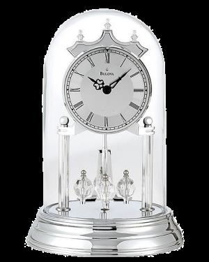 Bulova Tristan II Silver Anniversary Mantel Clock