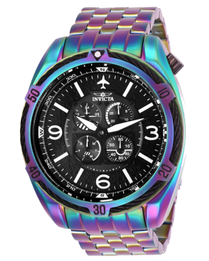 Invicta Aviator Rainbow Case Mens Quartz Watch