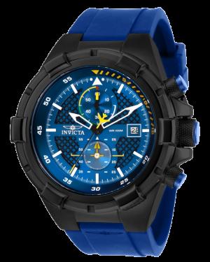 Invicta Aviator Black Case with Blue Dial Mens Quartz Watch