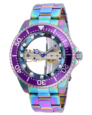 Invicta Pro Diver Mens Mechanical Iridescent Case Green Quartz Watch