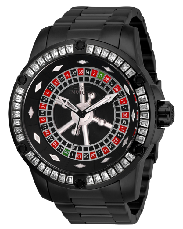 Invicta Specialty Mens Automatic 52 MM Black Case Watch