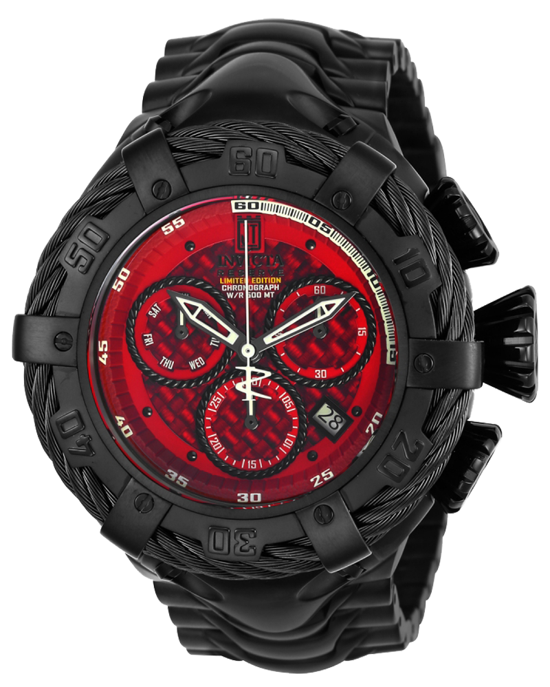 Invicta Men's Jason Taylor Chronograph Stainless Steel Red Dial