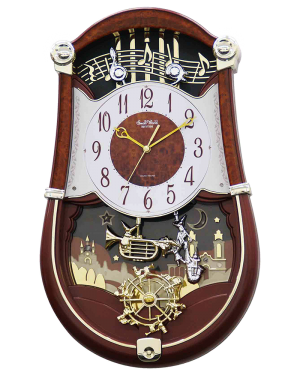 Rhythm Concerto Entertainer II Musical Motion Clock