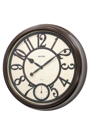 Rhythm Coventry Wall Clock with Seconds Dial