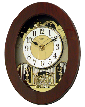 Rhythm Grand Nostalgia Entertainer Musical Magic Motion Wall Clock