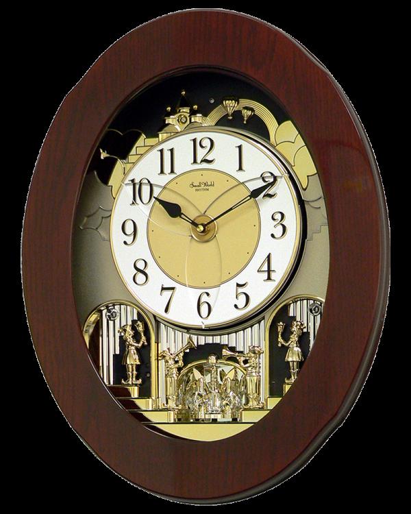 Rhythm Grand Nostalgia Entertainer Musical Magic Motion Wall Clock