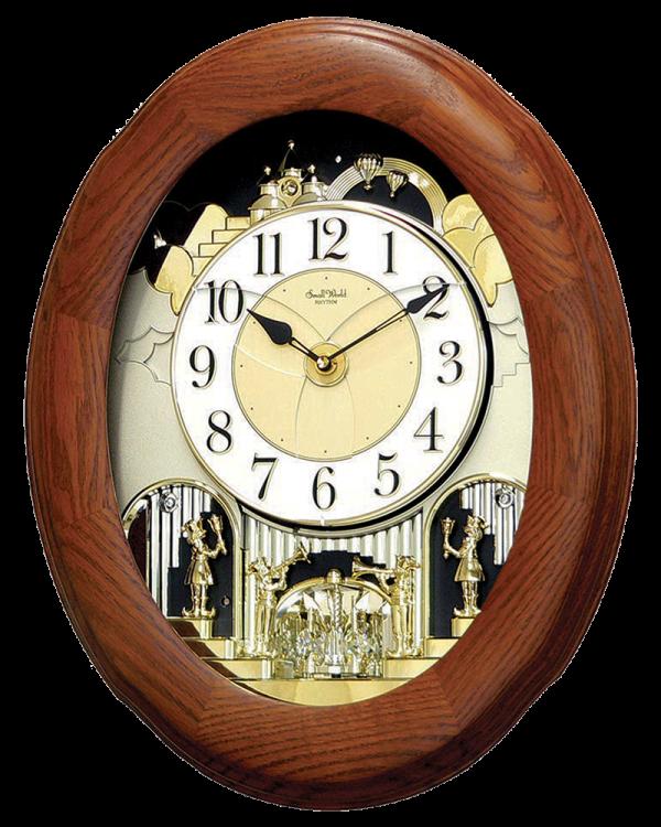 Rhythm Joyful Nostalgia Oak Musical Magic Motion Wall Clock