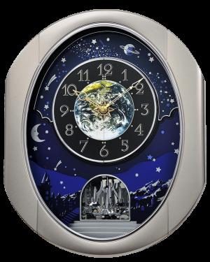 Rhythm Peaceful Cosmos II Musical Magic Motion Wall Clock