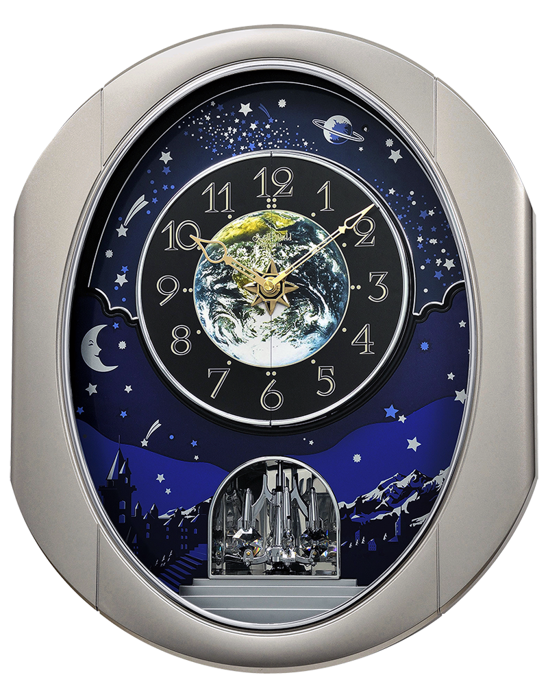 Rhythm Peaceful Cosmos II Musical Magic Motion Wall Clock
