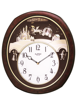 Rhythm Princess Fantasy Musical Motion Wall Clock
