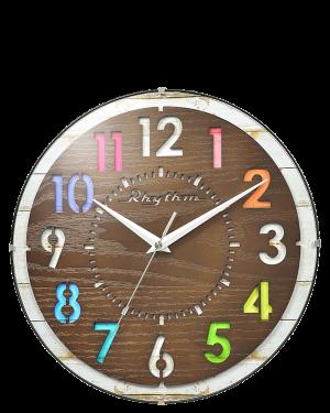 Rhythm Razzle Wooden Wall Clock