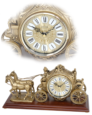 Rhythm 'The Buggy' Musical Mantel Clock