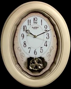Rhythm Vintage Cottage Musical Motion Clock
