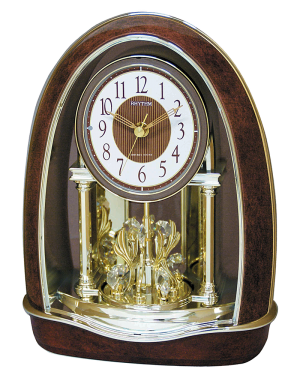 Rhythm Classic Nightingale Musical Mantel Clock