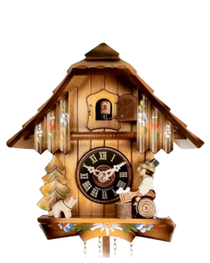 Engstler 1 Day Chalet Cuckoo Clock with Beer Drinker