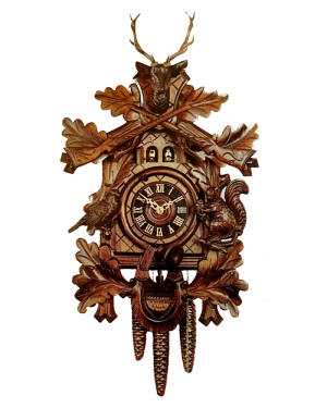 Hönes Traditional 1 Day Movement Buck Hunter 19-1/2'' Cuckoo Clock
