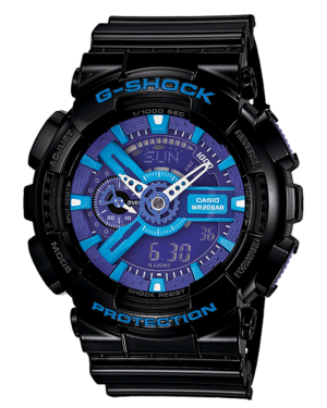 Casio-G-Shock-Mens-Black-G-Shock-Analog-Digital-Anti-Magnetic-Blue-and-Purple-Watch-GA110HC-1A
