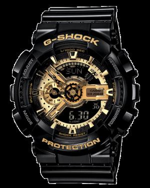Casio-G-Shock-Mens-Military-GA-110GB-Watch-Black-Gold-One-Size