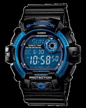 Casio-Men's-Sport-G8900A-1-Black-Resin-Quartz-Watch-with-Blue-Dial