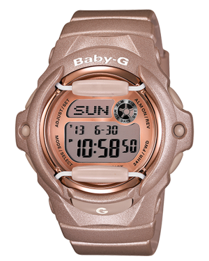 Casio-Women's-BG169G-4-Baby-G-Pink-Champagne-Watch