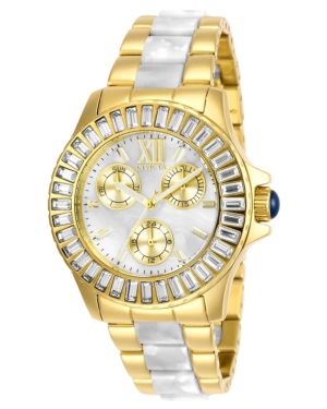 INVICTA-ANGEL-QUARTZ-38-MM-GOLD-CASE-WHITE-DIAL-LADIES-WATCH-29094