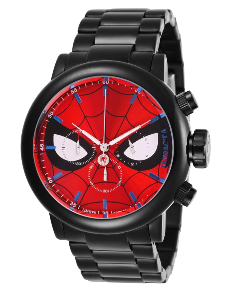 INVICTA-MARVEL-LIMITED-EDITION-SPIDERMAN-MENS-QUARTZ-48-MM-BLACK-CASE-RED-AND-BLACK-WITH-WHITE-DIAL-28144