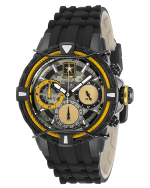 INVICTA-U.S.-ARMY-CHRONOGRAPH-BLACK-AND-GOLD-QUARTZ-LADIES-WATCH-31850