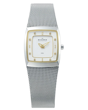 Skagen-Womens-380XSGS1-Steel-Collection-Crystal-Accented-Mesh-Stainless-Steel-White-Dial-Watch