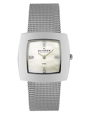 Skagen-Womens-Mother-of-Pearl-Stainless-Steel-Watch-570SSS
