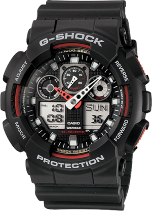 G-SHOCK Analog-Digital GA100-1A4 Men's Watch Black