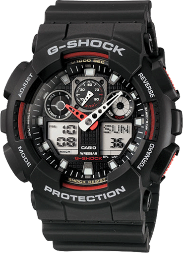 G-SHOCK Analog-Digital GA100-1A4 Men's Watch Black