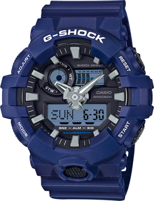 Casio Men's G Shock GA700-2A Blue Resin Japanese Quartz Diving Watch