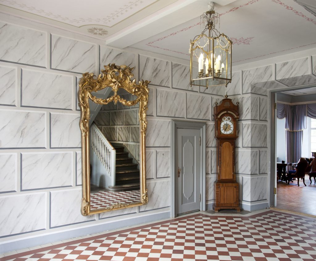 grandfather clock in house